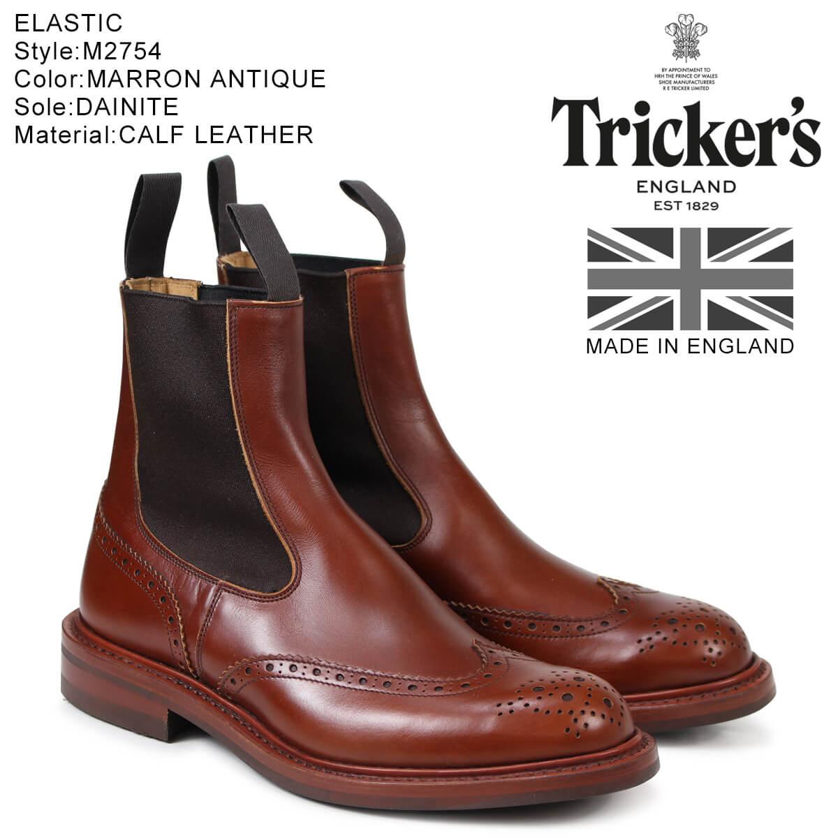 トリッカーズ Trickers サイドゴアブーツ ELASTIC M2754 5ワイズ メンズ