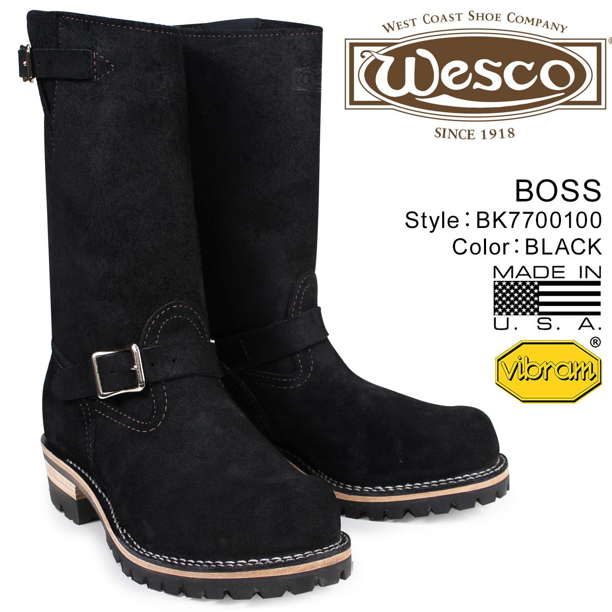 ウエスコ WESCO ボス ブーツ 11インチ エンジニア 11INCH BOSS Eワイズ スエード メンズ ブラック BK7700100 ウェスコ
