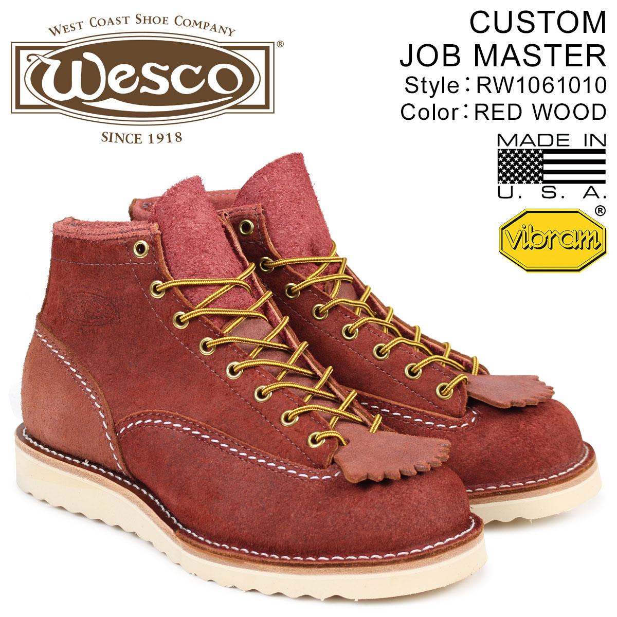 ウエスコ WESCO ジョブマスター ブーツ 6インチ カスタム 6INCH CUSTOM JOB MASTER Eワイズ スエード メンズ ブラウン RW1061010 ウェス