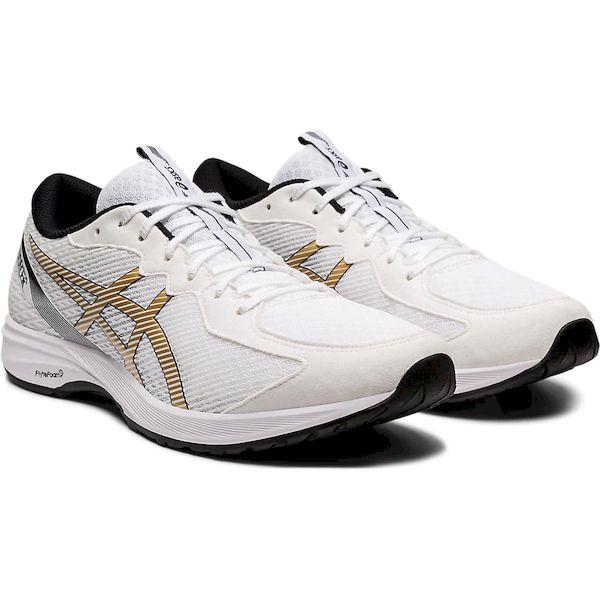 アシックス 4550215709718 1011A677 LYTERACER 2 WHITE/PURE GOLD サイズ:26.5