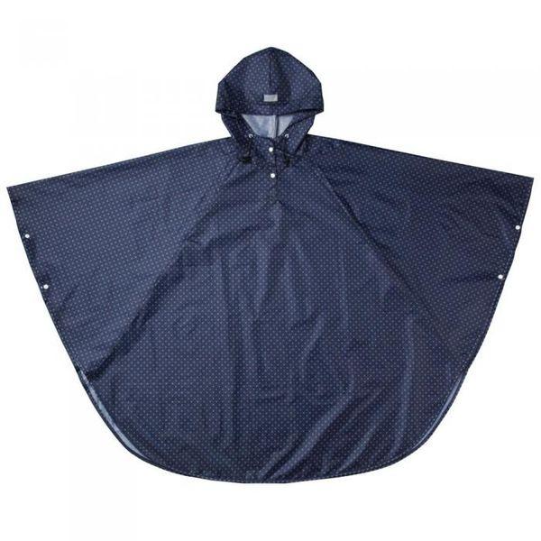 4985697222118 携帯できる雨よけポンチョネイビードット