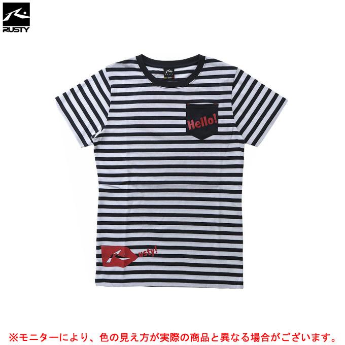 RUSTY(ラスティ)半袖Tシャツ(938523)カジュアル スポーツ トレーニング ウェア レジャー 女性用 レディース