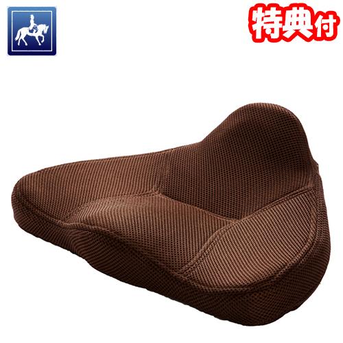 馬具マットエアー ブラウン 馬具座椅子 整体師と馬具職人の知恵と技 腰楽マット 座イス 馬具クッション ドリーム