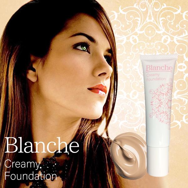 送料無料☆3個セット Blanche Creamy Foundation ブランシェ クリーミィファンデーション/医薬部外品 ファンデ ベースメイク 美容 健康 スキンケア コスメ