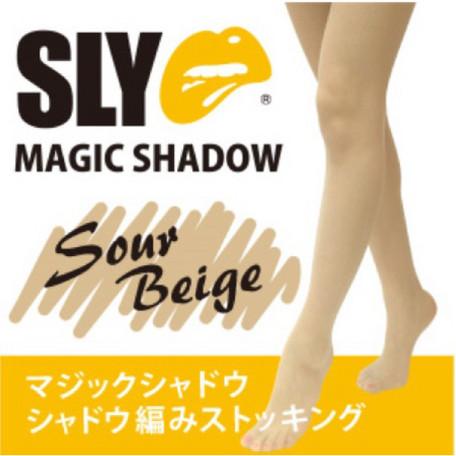 メール便OK SLYマジックシャドウ シャドウ編みストッキング ML スイートベージュ/脚 美容 健康