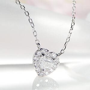 【0.2ct】 ハートシェイプ ダイヤモンド ネックレスアクセサリー ネックレス プラチナ ダイヤ ペンダント 0.2カラット ハート 可愛い