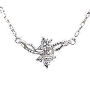 フェザー ネックレス ダイヤモンド ペンダント プラチナ ネックレス