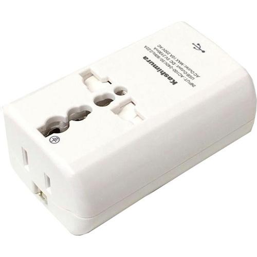 【海外旅行用 2口電源プラグ A・C・O・SE・BFタイプ USB2.1A NTI-165 1台】※税抜5000円以上送料無料[代引選択不可]