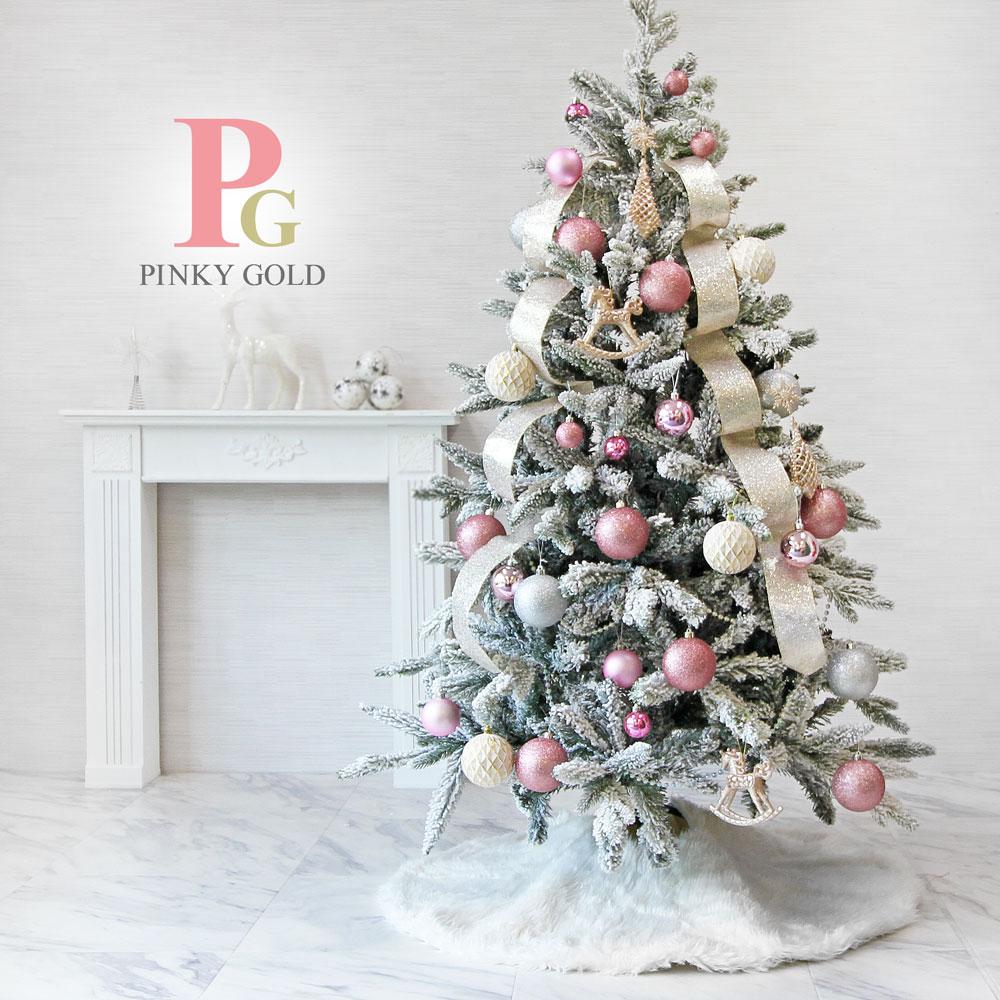 クリスマスツリー 飾り オーナメント 北欧 おしゃれ ボール オーナメントセット クリスマス 飾り ボール pink ピンク