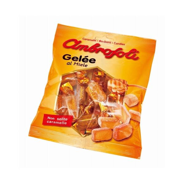 イタリア ハチミツ おやつ ambrosoli(アンブロッソリー) ハニーゼリー 袋入 130g×20袋 海外 スイーツ 食品 スウィーツ お菓子