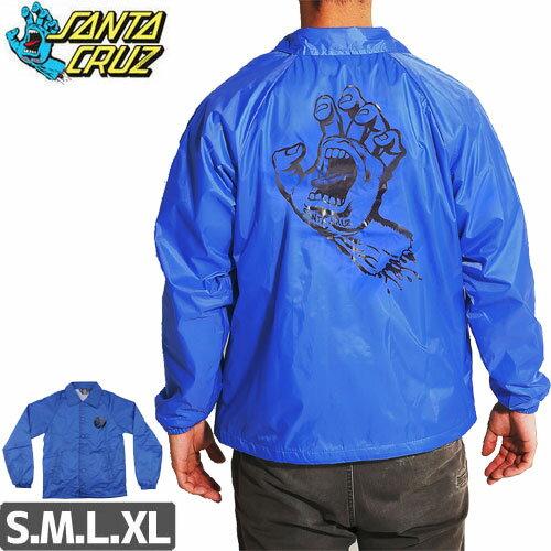 サンタクルーズ SANTA CRUZ コーチジャケット HAND COACH WINDBREAKER JACKET ロイヤルブルー NO7