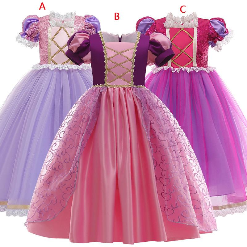 プリンセスドレス ロング パープル 紫 女の子 子供 衣装 コスプレ キッズ プリンセスドレス 衣装 子供 女の子 子ども コスプレ なりきり