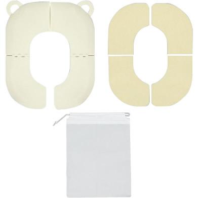 折りたたみ式補助便座(YE) R-42 おむつ トイレ用品[▲][AB]