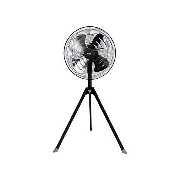 TRUSCO全閉式工場扇ルフトハーフェンスタンドタイプ アルミハネ ブラック TFLHA-45S-BK 1台 家電 季節家電(冷暖房 空調) 扇風機 サーキ