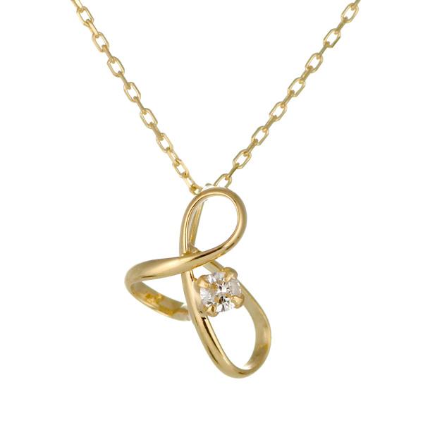 ネックレス K18イエローゴールド 18金 K18 18k ダイヤモンド 人気 おすすめ レディース 女性