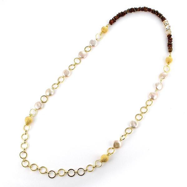 ネックレス パール 真珠 ブラス ネックレス 6月誕生石 プレゼント 人気 おすすめ レディース 女性