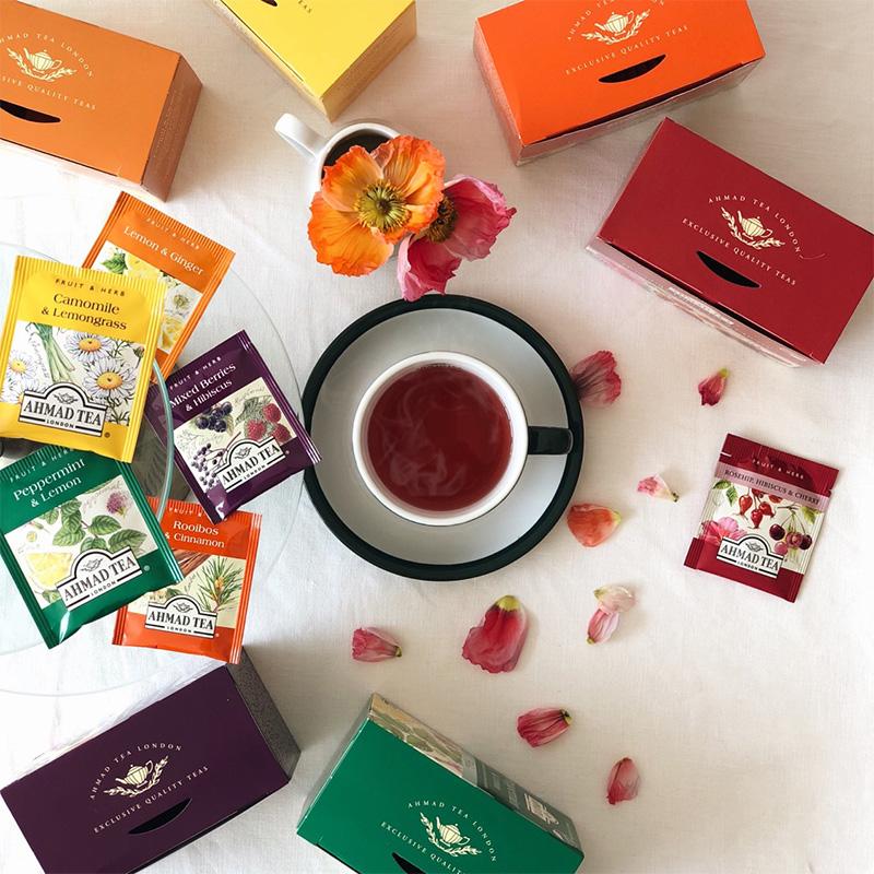AHMAD TEA アーマッドティー ハーブティー ティーバッグ 紅茶 ノンカフェイン デカフェ カフェインレス 個別包装 か
