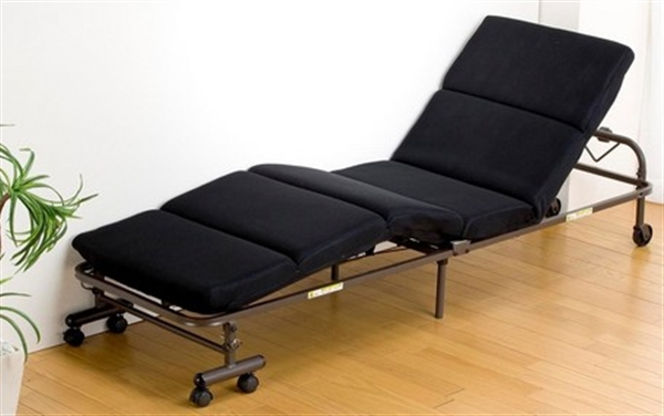モコモココンパクト折りたたみベッド ブラック