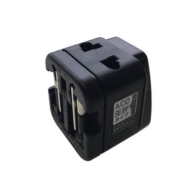 カシムラ【海外用】海外用2口変換プラグ A/C/O/SE/BF タイプ電圧ランプ付 NTI-91★【NTI91】