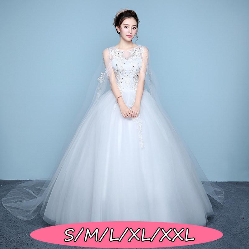 結婚式ワンピース お嫁さん 豪華な ウェディングドレス 花嫁 ドレス Aラインワンピース 姫系ドレス 白ドレス ホワイト色