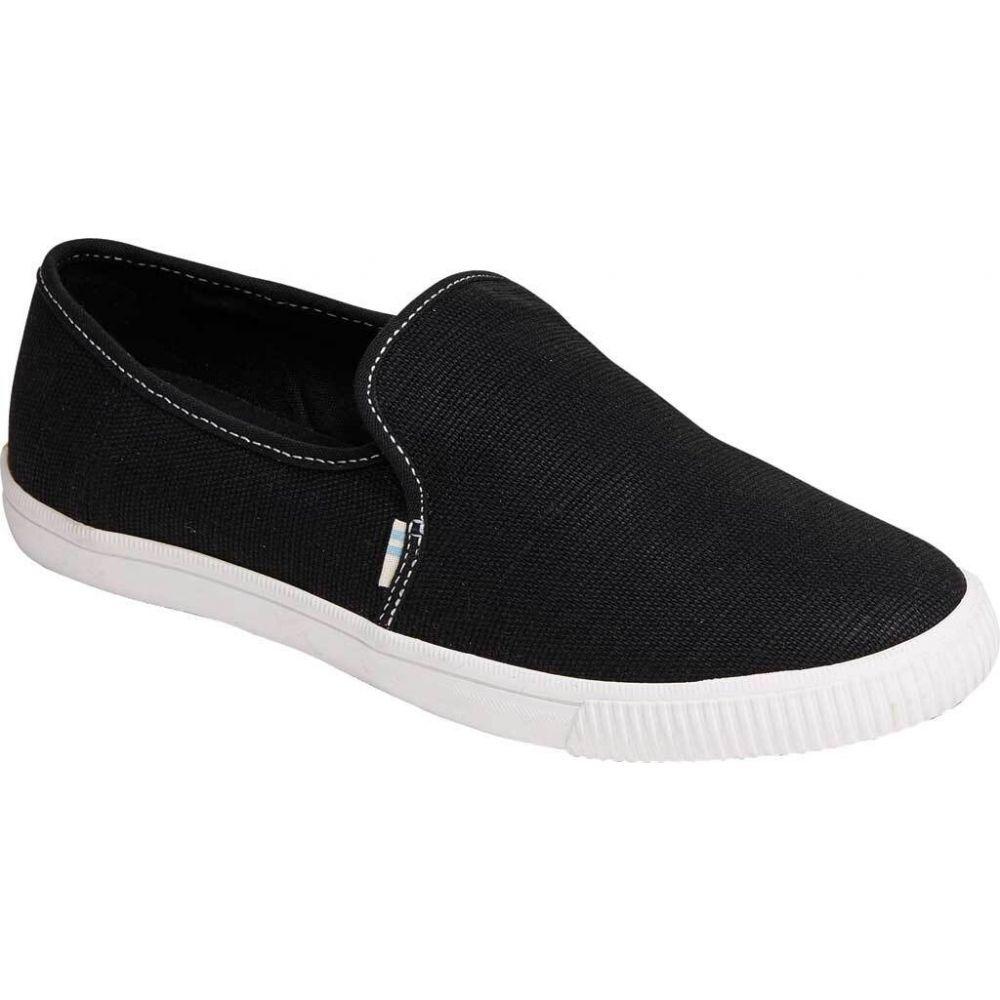 トムス TOMS レディース スリッポン・フラット スニーカー シューズ・靴 Clemente Slip-On Sneaker Black Heritage Canvas/Contrast Stit