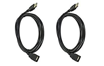 【中古】【輸入品 未使用 】C & E 2 Pack USB 2.0 A Male to A Female Extens