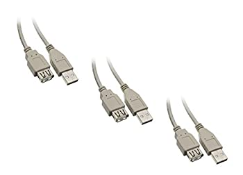 【中古】【輸入品 未使用 】C & E 10-Feet Type A Male to Female USB 2.0 Ex