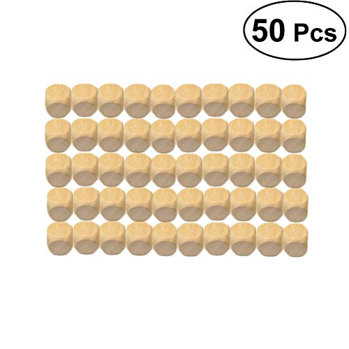 Healifty ダイス 木製 ブランクダイス 6面 おもちゃ ボードゲーム パーティ(中古品)