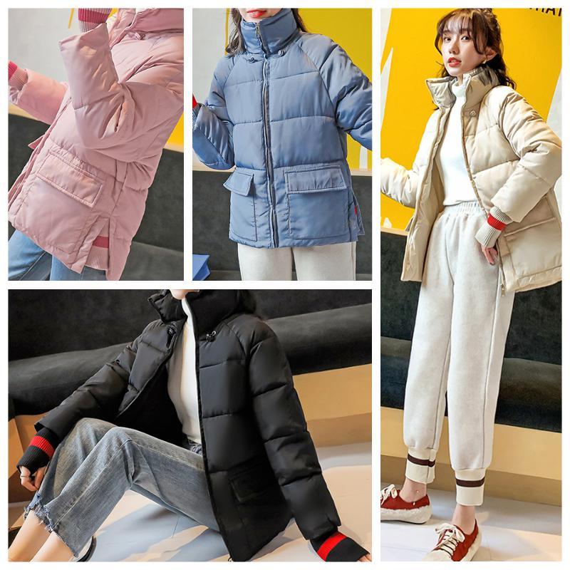 ジャケット レディース アウター 中綿ジャケット ブルゾン スタンドカラー リブ 無地 カジュアル 中綿コート 暖かい 冬