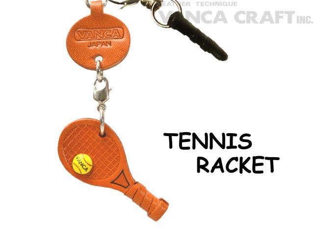 テニスラケット(グッズ) イヤホンジャックアクセサリーレザー 本革 VANCA/バンカクラフト革物語 43916