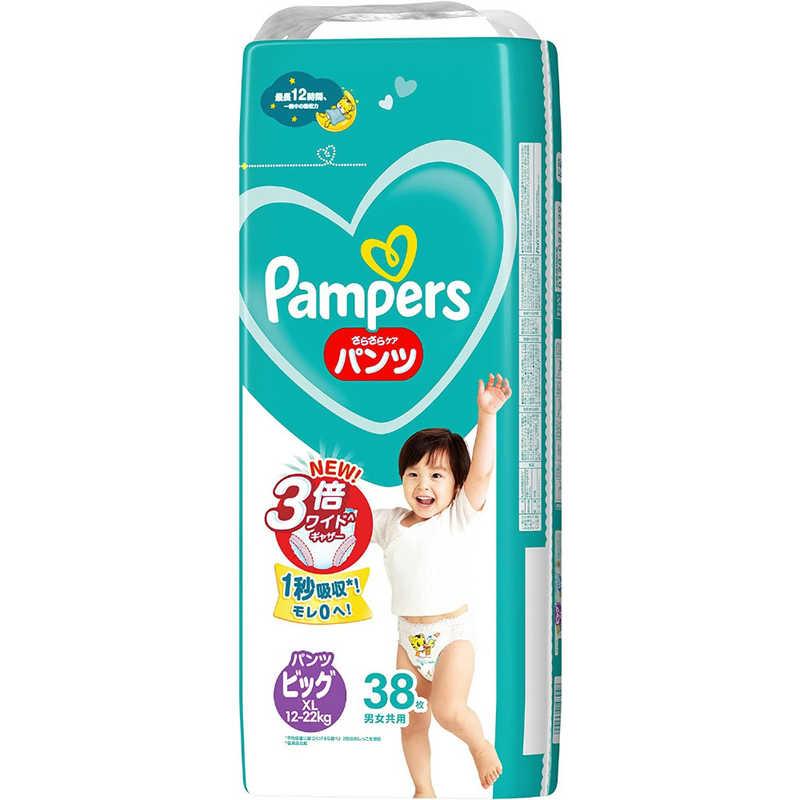 P & G Pampers(パンパース) さらさらケア パンツ ビッグサイズ(12kg-22kg) 38枚〔おむつ〕 パンパースFパンツSJBIG36P