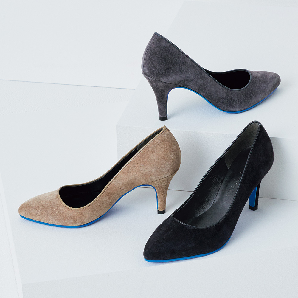 バッグ 靴 アクセサリー パンプス サンダル ブルーソール 本革スエード パンプス A55403
