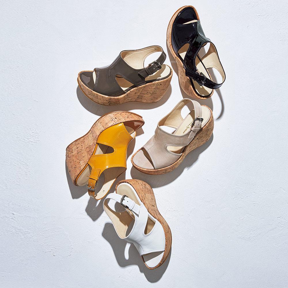 バッグ 靴 アクセサリー パンプス サンダル バックストラップ ウェッジサンダル A56917