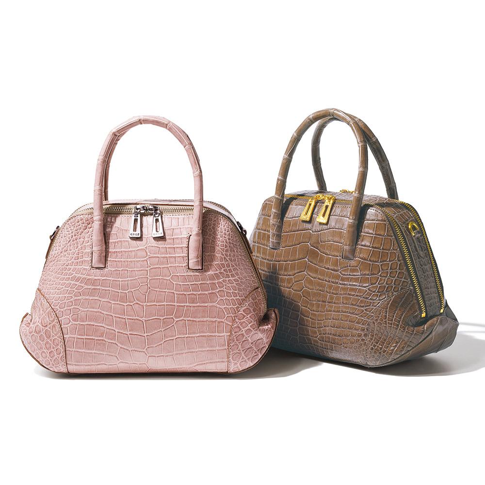 バッグ 靴 アクセサリー レザーバッグ 革バッグ GRES/グレ スモールクロコ 2WAY ボストンバッグ 204901