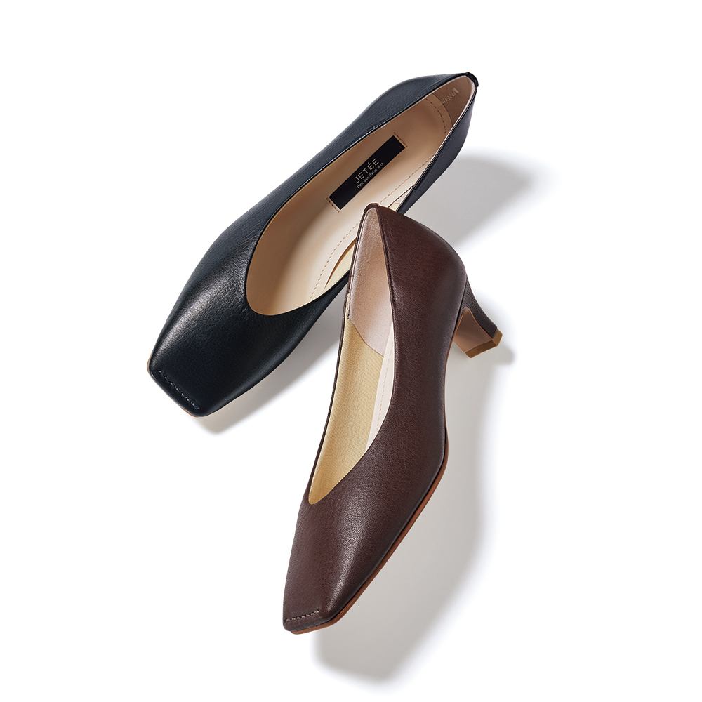 バッグ 靴 アクセサリー パンプス サンダル JETEE/ジュテ スクエアトウ パンプス 145102