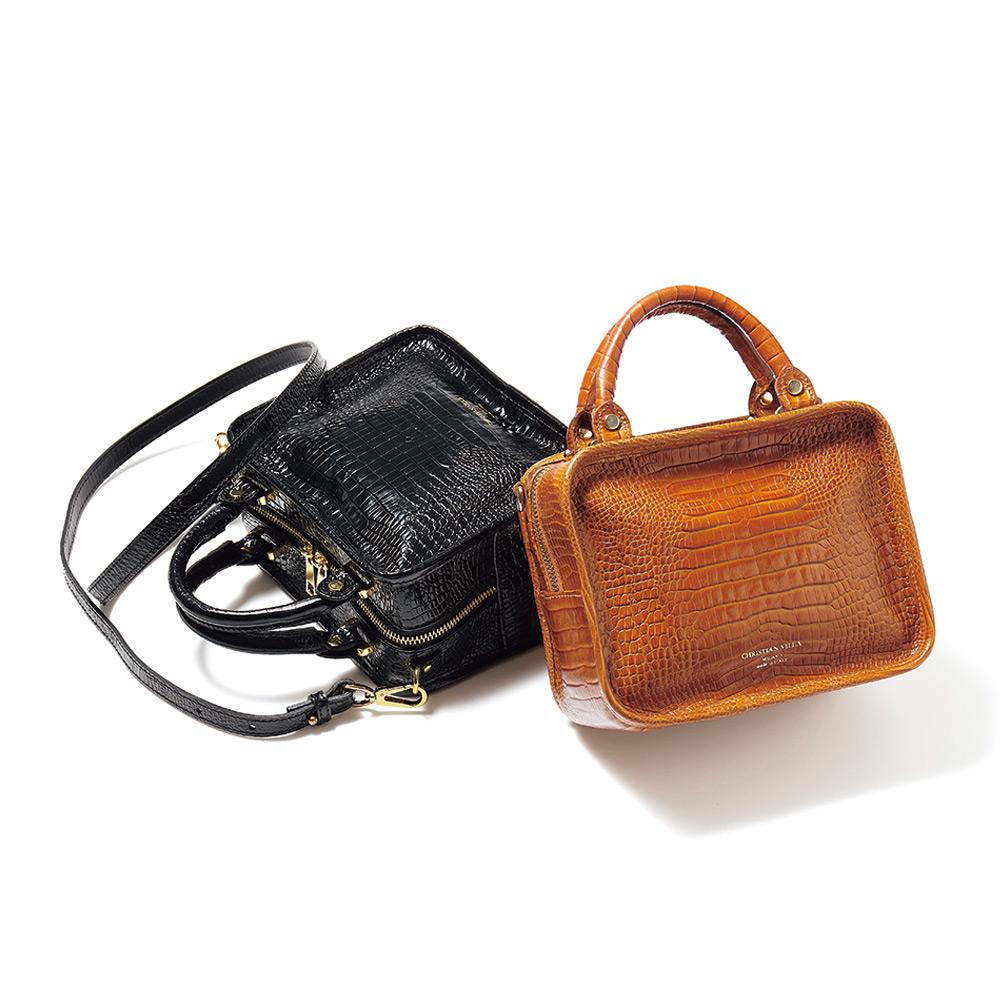 バッグ 靴 アクセサリー レザーバッグ 革バッグ CHRISTIAN VILLA/クリスチャンヴィラ スクエア 2WAY バッグ(イタリア製) 220901