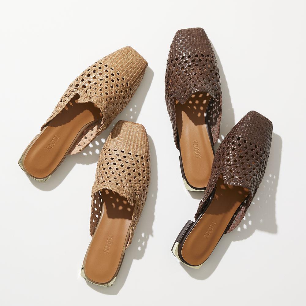 バッグ 靴 アクセサリー パンプス サンダル ミュール サボ ROKOTA/ロコタ メッシュ ミュール 224812