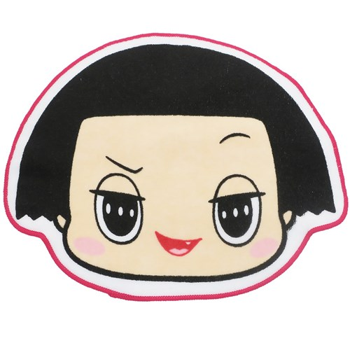 チコちゃんに叱られる ミニタオル ダイカット ハンドタオル ノーマルフェイス NHK 24×20cm キャラクター グッズ メール便可