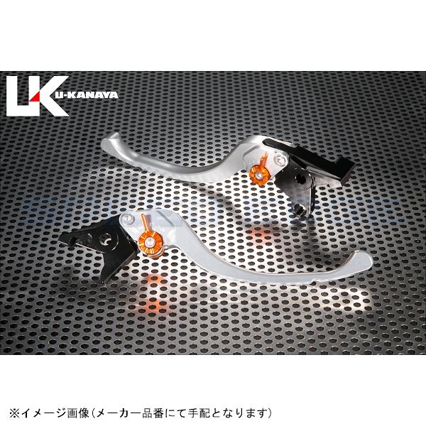 [SU020-021-0803] U-KANAYA(ユーカナヤ) レバーセット ツーリング シルバー/ゴールド GSX-R750/600 06-07