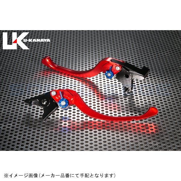 [SU020-021-0805] U-KANAYA(ユーカナヤ) レバーセット ツーリング レッド/ブラック GSX-R750/600 06-07
