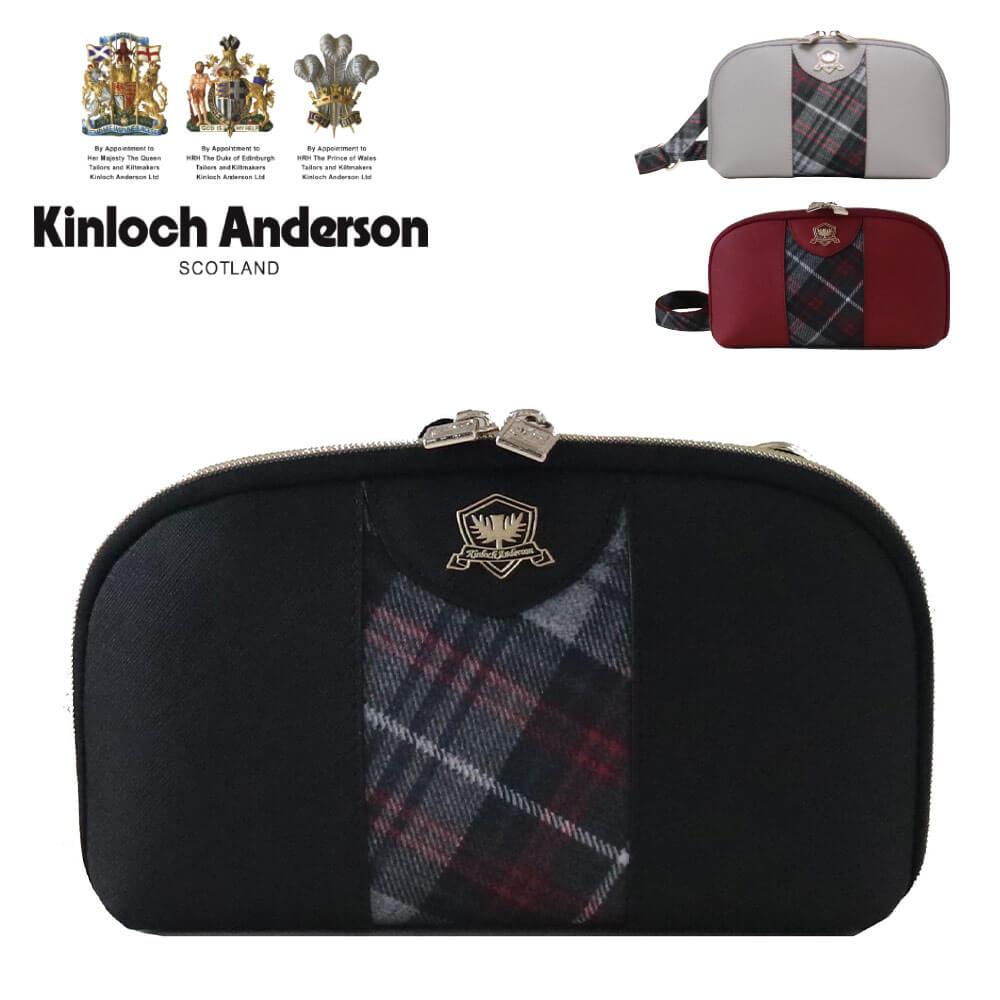 【送料無料】キンロック・アンダーソン ポーチ×ミニショルダー 2WAYバッグ 英国王室御用達・スコットランドの名門ブランド