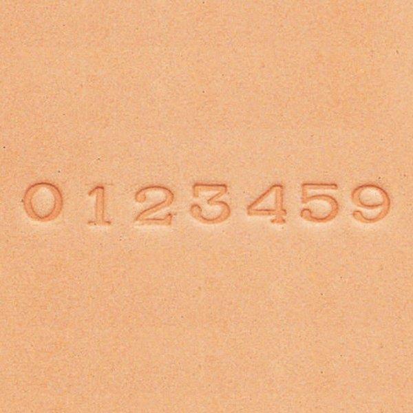 [ メール便可 ] クラフト社 刻印棒セット 8304 ナンバー 6×6mm 【 レザークラフト 革 セット 】