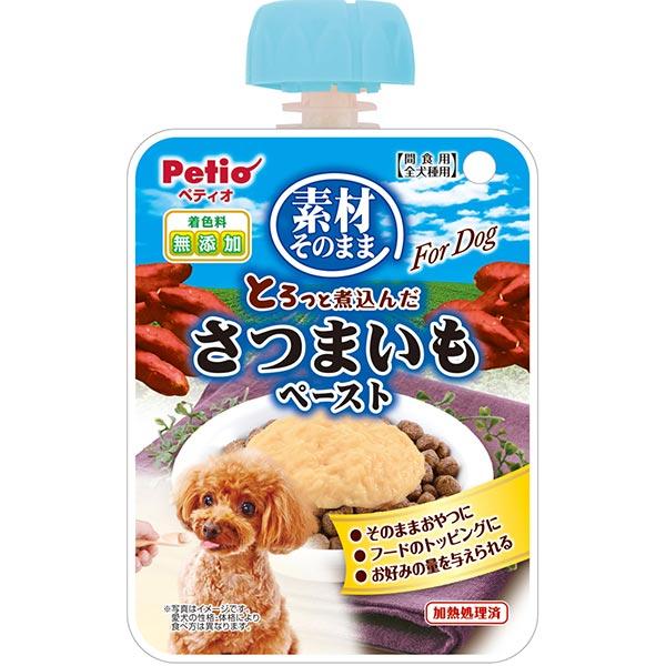 ペティオ 素材そのまま とろっと煮込んだ さつまいも ペースト For Dog 90g その他食品 犬用おやつ 着色料無添加 いも フルーツ&ベジタ