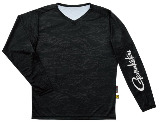 がまかつ NO FLY ZONE(R) ロングスリーブTシャツ GM-3662 ブラックカモフラージュ Sサイズ (お取り寄せ)