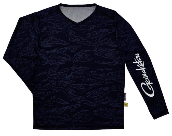 がまかつ NO FLY ZONE(R) ロングスリーブTシャツ GM-3662 ネイビーカモフラージュ Sサイズ (お取り寄せ)