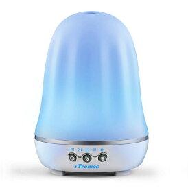 iTronicsアロマディフューザー超音波式 加湿器 アロマライト120ml容量 7色変換LED搭載 空焚き防止 タイマー機能 ムードランプ リビング・