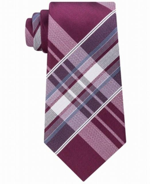 Kenneth Cole ケネスコール ファッション 小物 Kenneth Cole Reaction NEW Red One Size Aquamarine Plaid Silk Neck Tie$55 #284