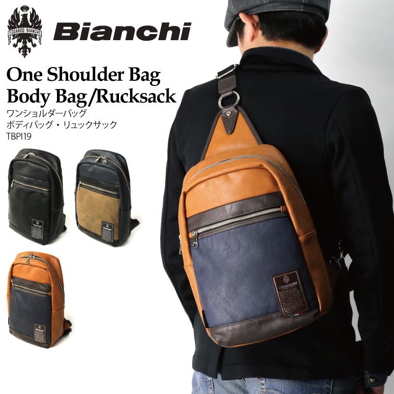 Bianchi(ビアンキ) ワンショルダーバッグ ボディバッグ リュックサック デイパック フェイクレザー メンズ レディース