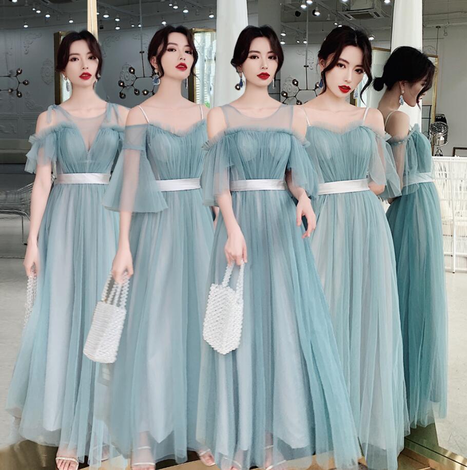 ブライズメイド ドレス 2020新作 ロングドレス 合唱衣装 パーティードレス ウエディングドレス aラインワンピース 結婚式 フォーマル 二
