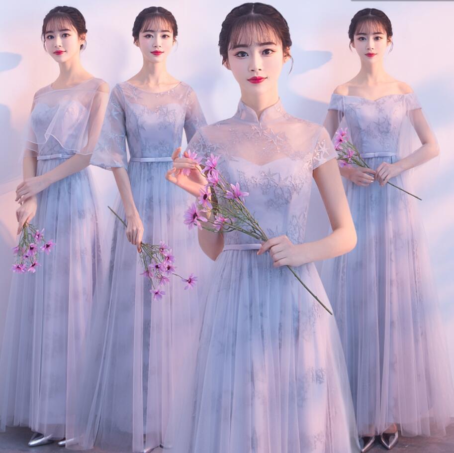 ウエディングドレス ブライズメイド ドレス 新作 上品 ロングドレス 合唱衣装 パーティードレス aラインワンピース 結婚式 フォーマル 二